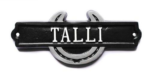 Online Sign Maker | Cast Metal Horse Shoes Name Plate